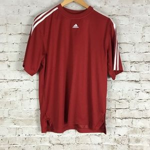 Adidas Soccer Jersey Size M Red Three Stripes